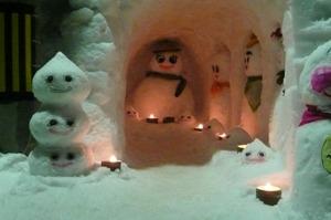 金沢から車で1時間くらいの雪だるままつり2010年2月